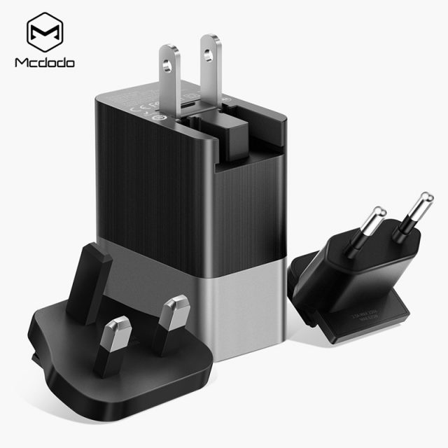 Mcdodo 3 Port USB Charger 3in1 Triple EU US UK Plug 2.4A Travel Wall Charger Adapter for iPhone Samsung Xiaomi Phone USB Charger