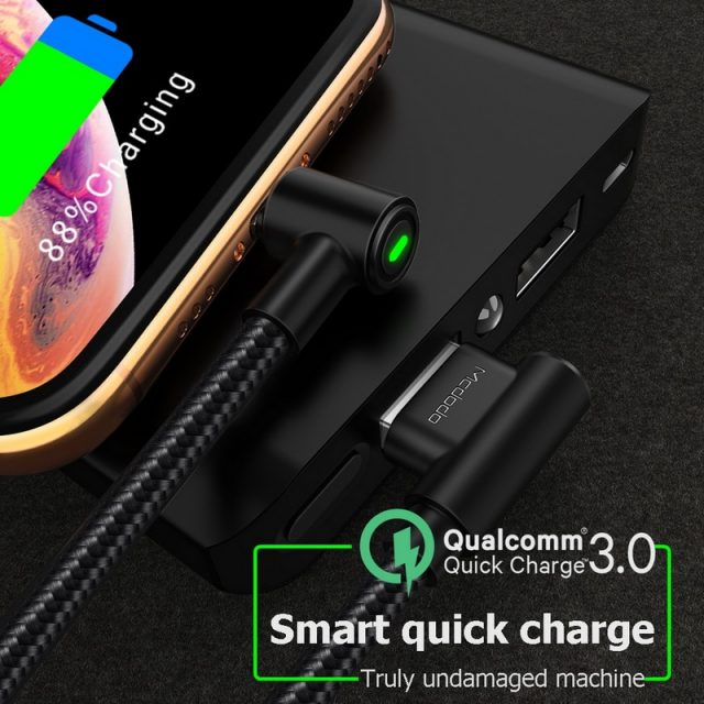MCDODO USB Cable For iPhone Apple XS MAX XR X Cable Fast Charging Cable Mobile Phone Charger Cord Adapter Usb Data Cable Charge